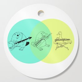 Keytar Platypus Venn Diagram Cutting Board