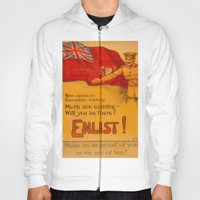 Vintage poster - Canadian Recruiting Hoody