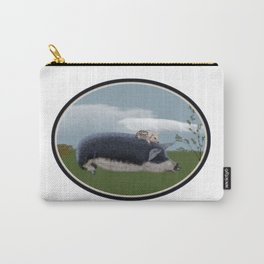 Mangalitsa Sow and Piglet Carry-All Pouch