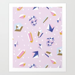 Magic and Crystals Art Print