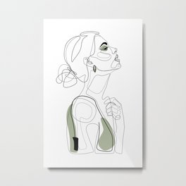 Olive Beauty Metal Print