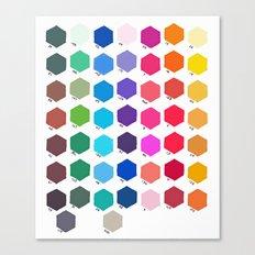 Hexagon Color Chart Canvas Print