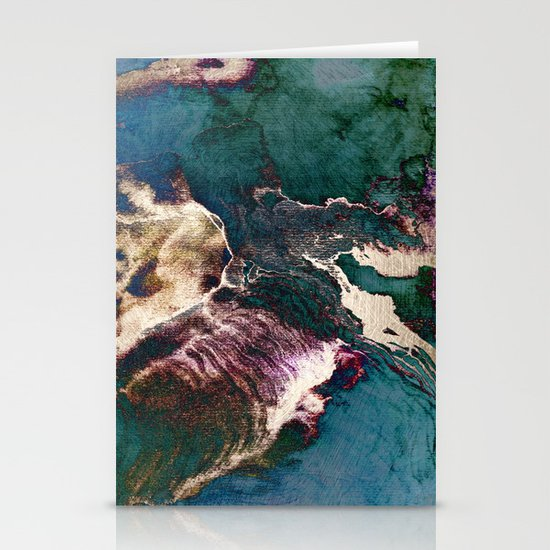 surreal map Stationery Cards
