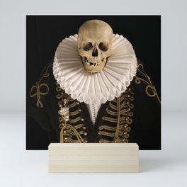Lord Tudor Skull with ruff Mini Art Print