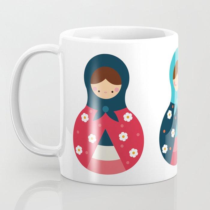 Matrioshkas Group Coffee Mug