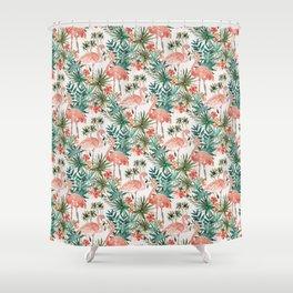 FLAMINGO PARADISE Shower Curtain