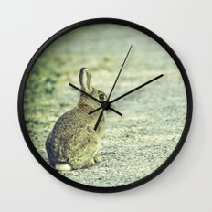 Wild Welsh Rabbit. Wall Clock