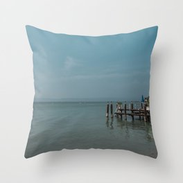 Italy in blue - Sirmione Throw Pillow