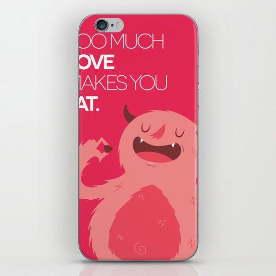 FATTY valentine's day iPhone & iPod Skin