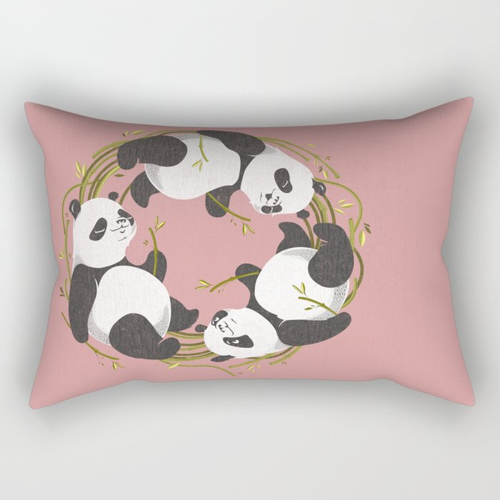 Panda dreams Rectangular Pillow