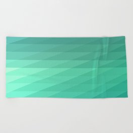 Fig. 043 Mint Green Geometric Diagonal Stripes Beach Towel