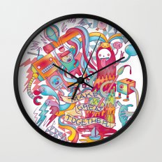 Together We're Awesome! Wall Clock