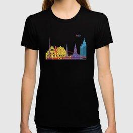 Riga skyline pop T-shirt
