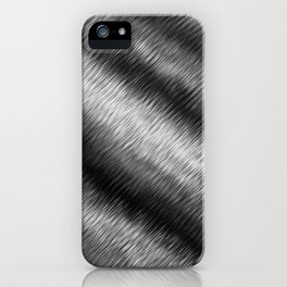 Black and White Hatched Ombre iPhone Case