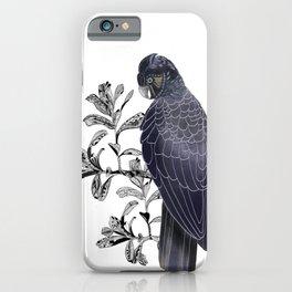 Australian Black Cockatoo iPhone Case