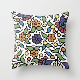 Palestinian Ceramic Pattern   Throw Pillow