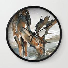 deer#2 Wall Clock