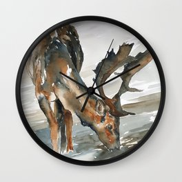 deer#2 Wall Clock