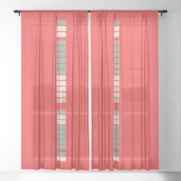 Tic Tac Tile Sheer Curtain