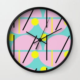 Postmodern Eggs Wall Clock