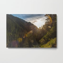 Valley Sunset - Oregon Metal Print