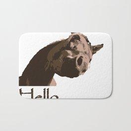 funny horse hello Bath Mat