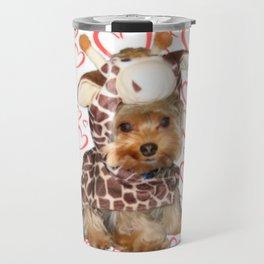 Dog Giraffe Costume | Yorkie with Hearts | Nadia Bonello Travel Mug