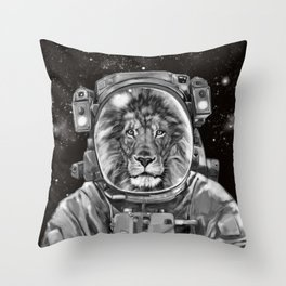 Astronaut Lion Selfie Throw Pillow