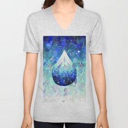 Hydration Water Drop Collage Unisex V-Neck
