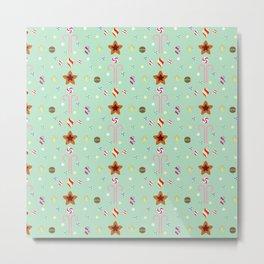 Candy cane pattern 3 Metal Print