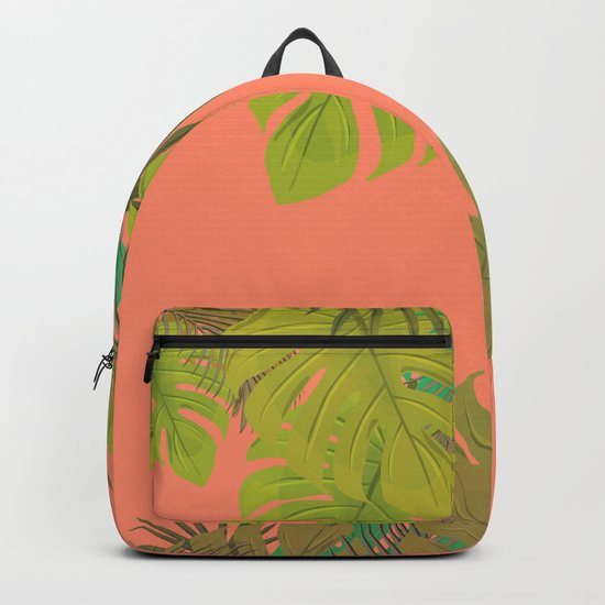 Tropical leaves 02 Backpack