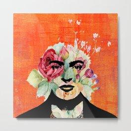 Frida flowers Metal Print