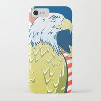 patriotic iPhone & iPod Cases featuring Patriotic Eagle by whiterabbitart
