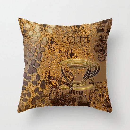 Coffeemania Throw Pillow