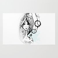 watch Area & Throw Rugs featuring watch by DanilaTrubarova