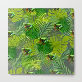 Frog Forest Metal Print