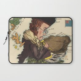 Vintage Scotland Bagpiper Map (1868) Laptop Sleeve