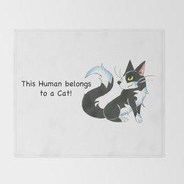Cat Ownership (Tuxedo) Throw Blanket