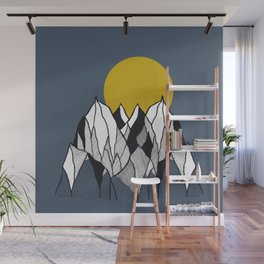 Over The Mountains - Drawing Wall Mural