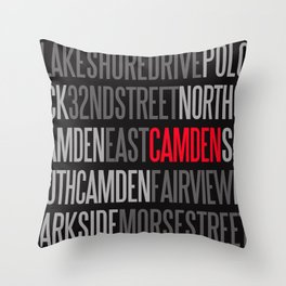 STREET LIFE (CMD) Throw Pillow