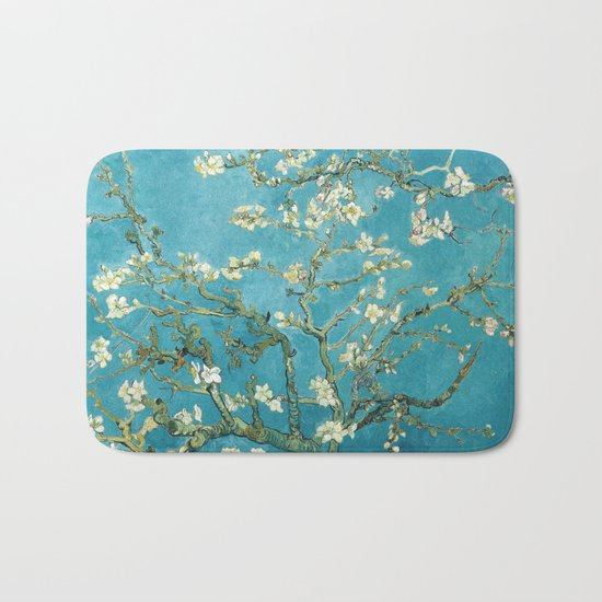 Almond Blossoms by Vincent van Gogh Bath Mat