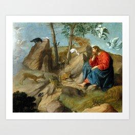 Moretto da Brescia Christ in the Wilderness Art Print