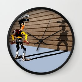 OUUUPS! - wooden wall version Wall Clock