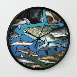 Save Our Species - Sharks Wall Clock