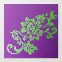 floral pattern Canvas Prints featuring Floral Pattern by Marjolein