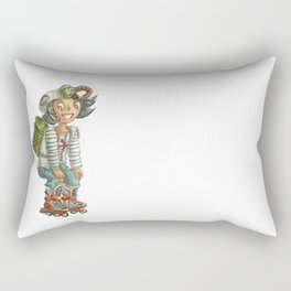 Cute fallout character - little mulatto girl on the rollers Rectangular Pillow