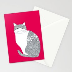 Pink-Cat Stationery Cards