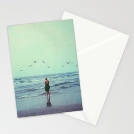 Woman on the Beach Stationery Cards