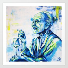 Happy End by carographic, portrait art Art Print