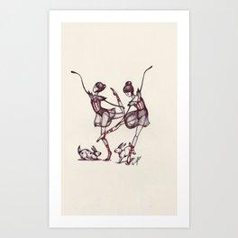 Dancing Twins Art Print